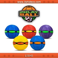 2015 Magic Dazzle Colour Outdoor Toys Phlat Ball Flying Disc Ball For Kids Toy