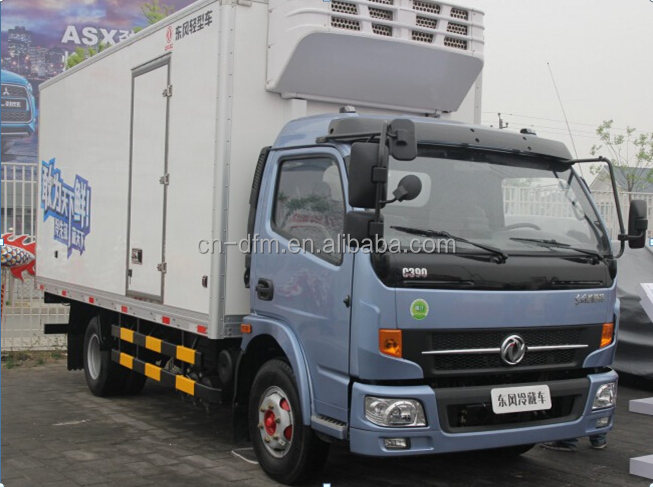Famous Thermo King Refrigerator Truck 4x2 Food Meat Transportation Cooling Van Truck Freezer Truck For Sale