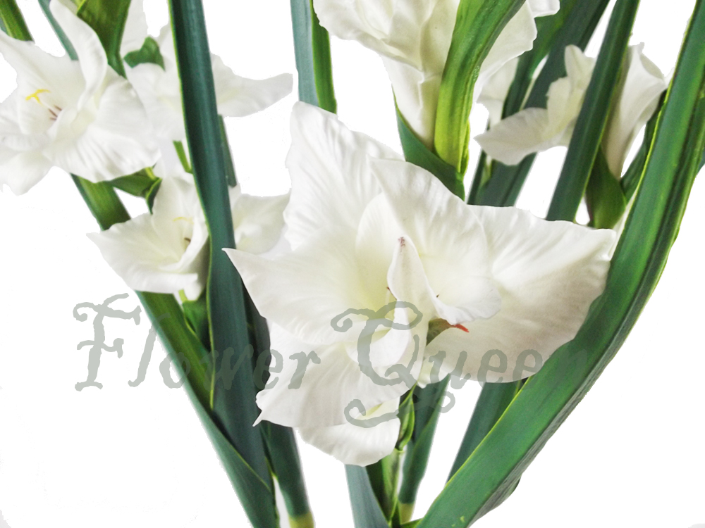 Magic Touch PU artificial red gladiolus factory direct artificial flowers china artificial flowers long stem fake flowers