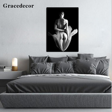 Bedroom Adornment Nude Palette Knife Beautiful Girl Sex Oil Painting