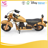 wooden model motorcycle for home decor or gift