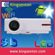 latest projector mobile phone 4500 lumens android 4.2 mini LED wifi full HD 1080p DLP 3D projector proyector