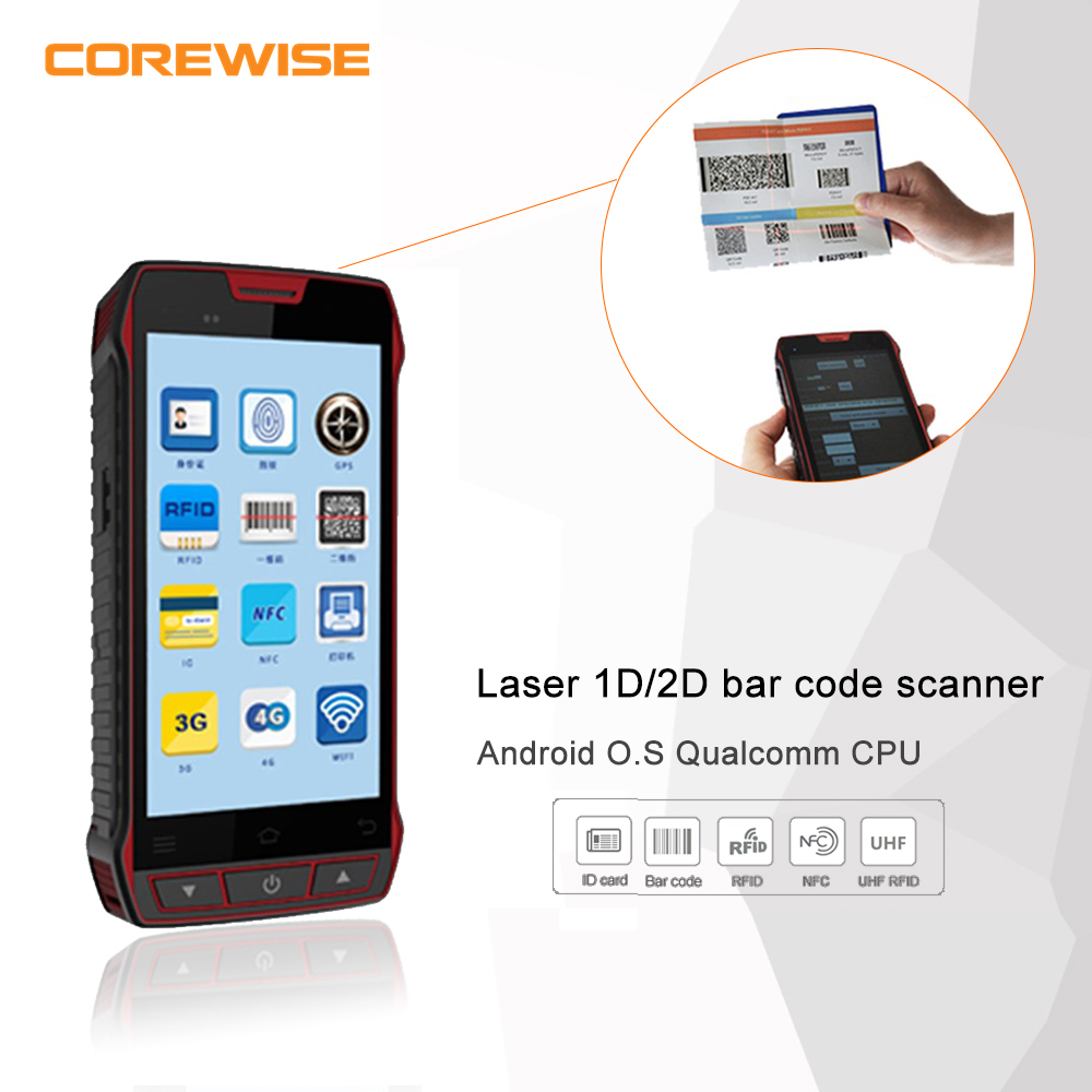 Bluetooth 4G LTE mobile phone 2d code scanner for warehousing management