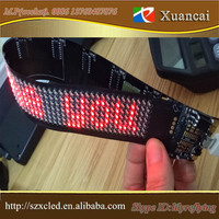 FPC soft belt bluetooth programmable Red flexible moving message LED sign