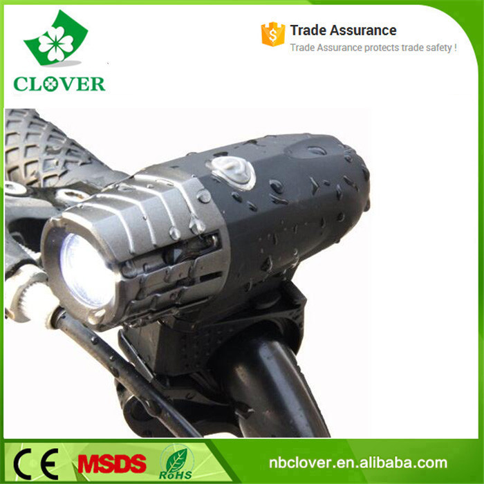 IPX-5 rating 300 lumen Cree XPG led usb rechargeable bike light for Safe Cycling