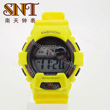 SNT-SP002C water resist stop sports watch flat sport watches for men