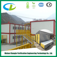 Glass Wool Insulated corrugated composite sandwich panels for fast wall construction materials