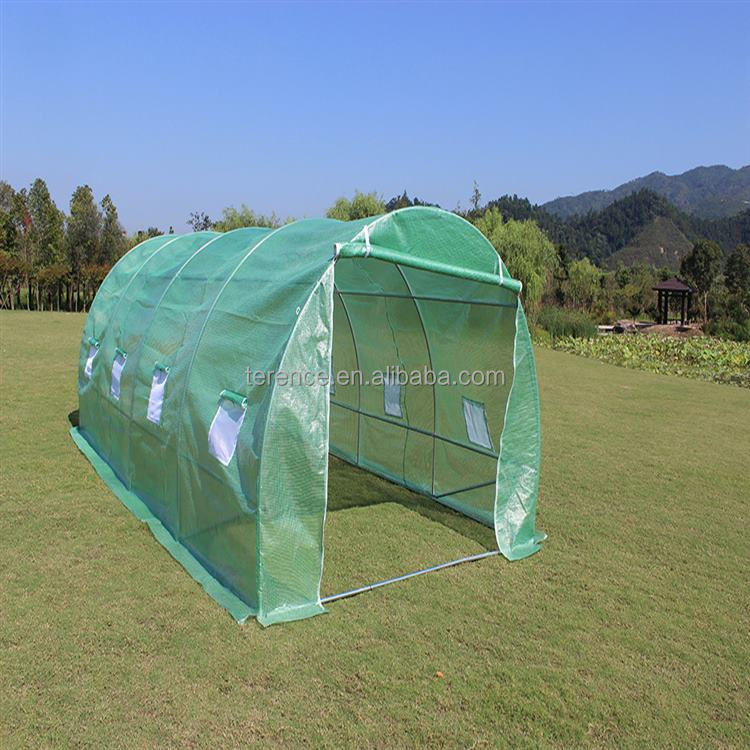2017 Popular plastic euro greenhouse poly tunnel green house