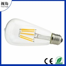 6W ST64 Vintage Edison LED Light Bulbs,Dimmable,Daylight White