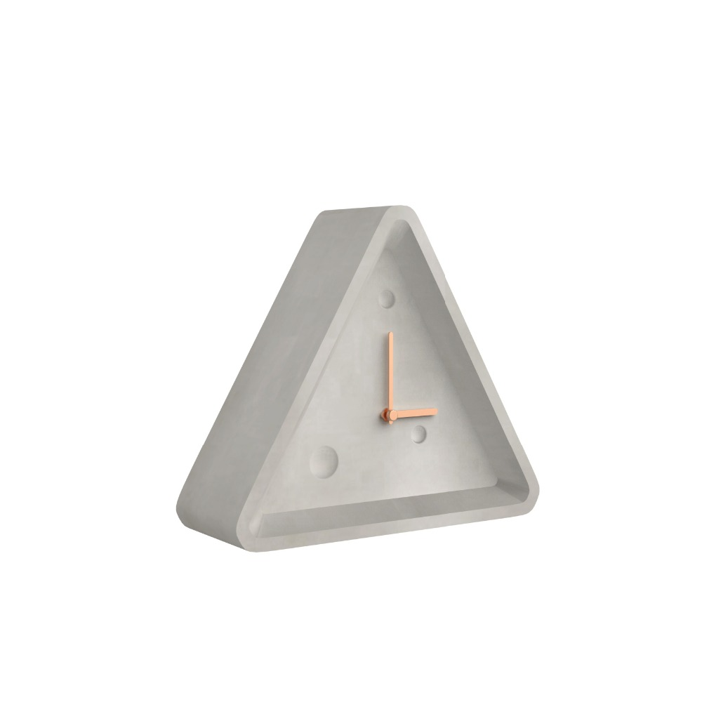 Low price hot-sale northern europe originality concrete and wood wall clock