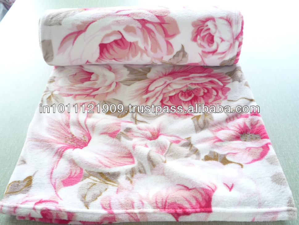 Printed Coral Fleece Blankets