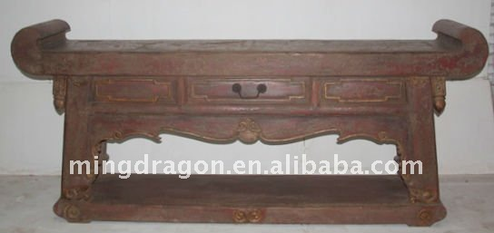 Chinese Antique living room furniture with one drawer alter table