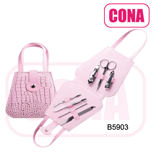 Fashion travel hangtag manicure pedicure set