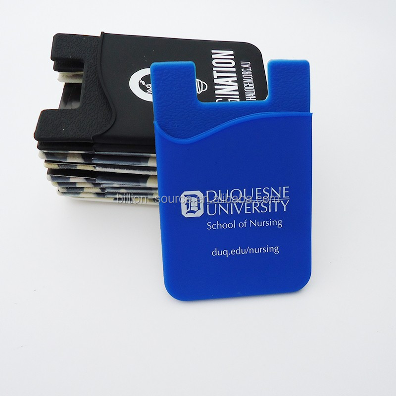 2018 universal silicone credit card holder stick on phone wallet