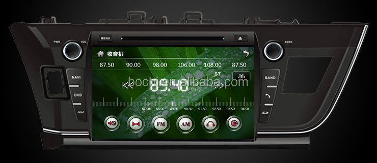 car dvd player for toyota vios 2014 with 10.2 inch screen 1024*600 resolution