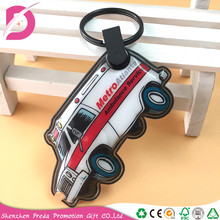 Cheap price Mini Car shape led keychain/solar led keychain/pvc key chain light
