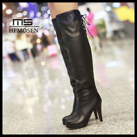 SW12019 2013-2014 new winter boots knee high boots European and American high-heeled boots women shoes