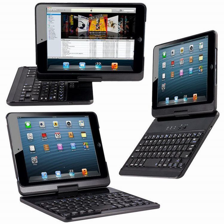 Rotatable 360 degree bluetooth keyboard case for ipad mini