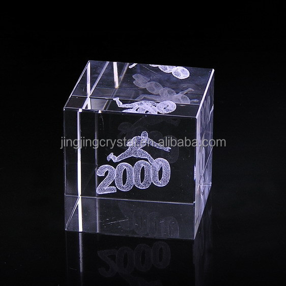 square laser cut crystal cube