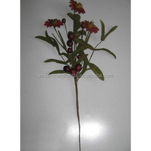 Artificial flowers and pip berry pick branch country primitive floral holiday decor.