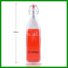 High quality 1000 ml glass bottle with swing top /rubber