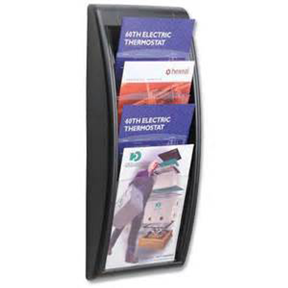 With Arc, Nailed To Wall Acrylic Brochure Display Rack