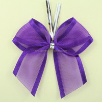 Gift wrapinng bow make organza bow