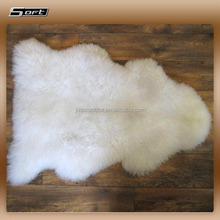 white plush sheep fur hand knotted wool animal skin rugs