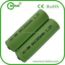high quality rechargeable 1.2v nimh aa 1200mah battery