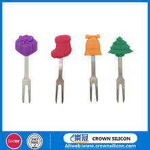 Thanksgiving Day and Christmas gift Silicon snack dessert fruit forks