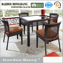 167C Wicker table and chairs Outdoor Furniture made in China