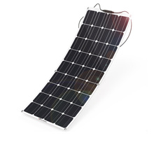 Hot Selling High Efficiency 100 watt Portable Pv Semi Flexible Solar Panel