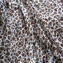 Semi Transparent Fabric Silk with Leopard Print Hangzhou Silk Chiffon