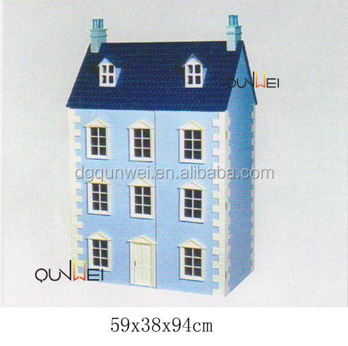 Handmade Beautiful Dollhouse Kid DIY Wooden Doll House Miniature Best Wishes Gift QW60308