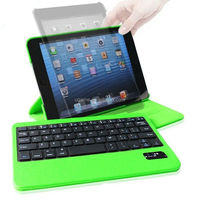 Folio Bluetooth Backlit Lighted Keyboard Case For iPad mini/mini Retina