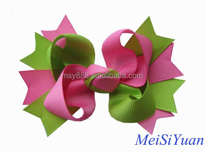 Christmas Recurve hair bow ,Ribbons and bows for chirldren