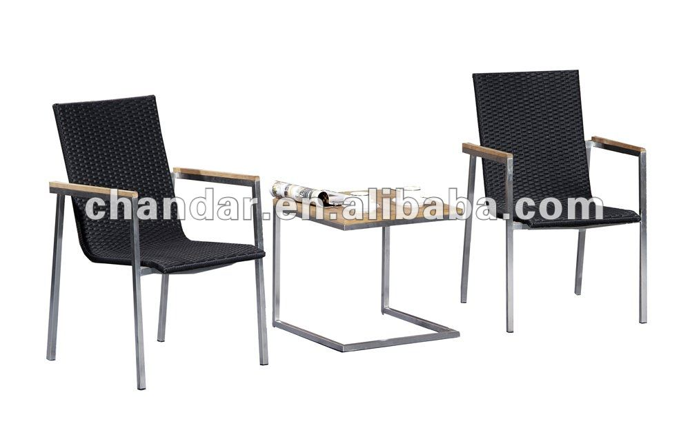 stainless steel table and chair garden patio set
