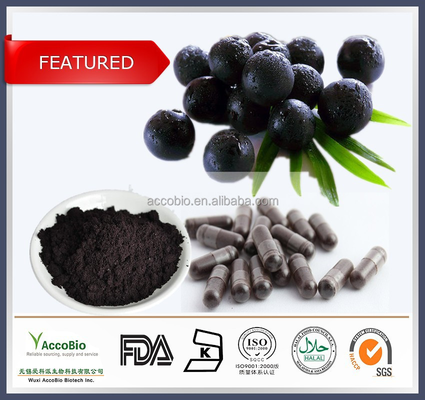 100% Natural Pure Acai berry extract powder/Herbal supplement Acai berry extract capsule