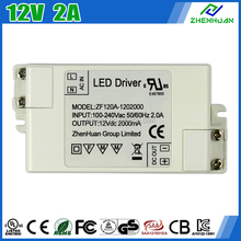 ZF120A-1202000 DC LED Driver 12V 2A AC Adapter Input 100-240V