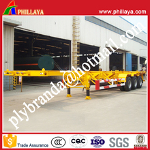 Container Loading Three Wheeler Chassis With Semi Trailer Suspension