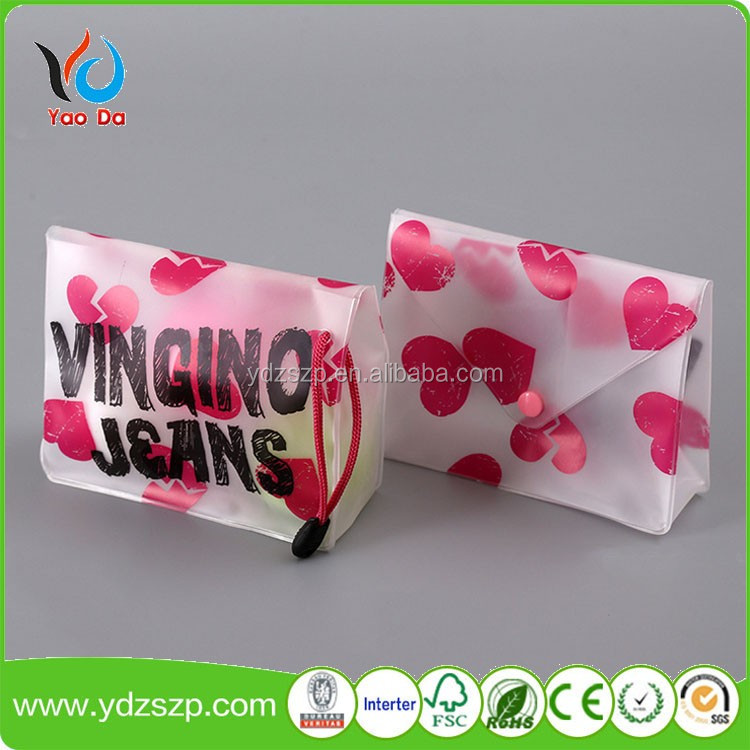 Customized eco-friendly cosmetic pouch plastic EVA/ PEVA bag with zipper accept OEM