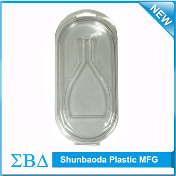 China supplier clear usb clamshell blister packaging with hang hole