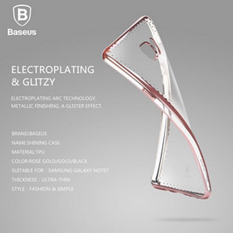 Baseus Shining Electroplated Back Case for Samsung Galaxy Note 7 Soft TPU Case