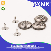 JXNK brake lining leather craft rivets studs head screw custom metal snap button