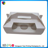 2014 Cheap printing clear plastic paper mini gift boxes