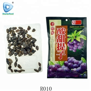 China fruit seedless sour sweets black raisin