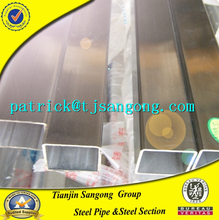 stainless square hollow section steel pvc water pipe tube for structure