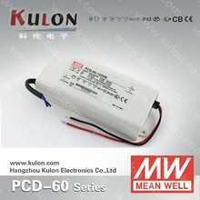 MeanWell PCD 60w AC phase-cut dimming led driver for indoor lighting