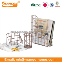 Customized office stationery set metal file rack