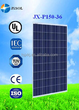CE,UL,TUV certificated poly 150 watt solar panels with good price per watt